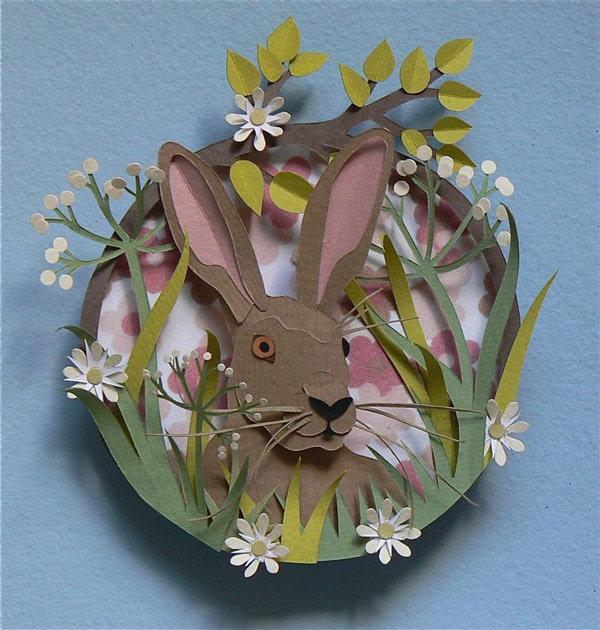 Мастер класс открытка с зайцем