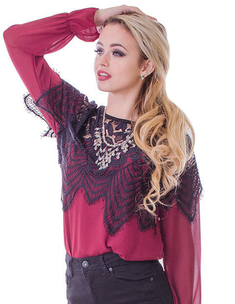 фото сатиновая блузка