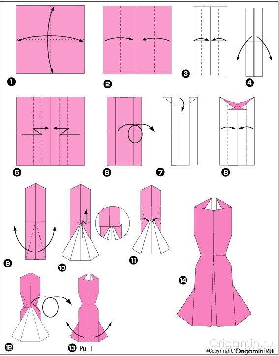 Как сделать платье открытку из бумаги своими руками