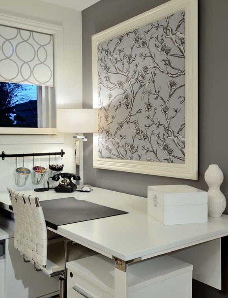 Дизайн светлого домашнего кабинета