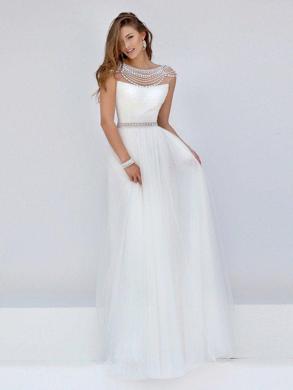 Красивые вечерние платья белые