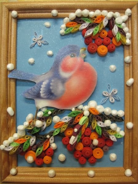 Картинки из природного материала зима