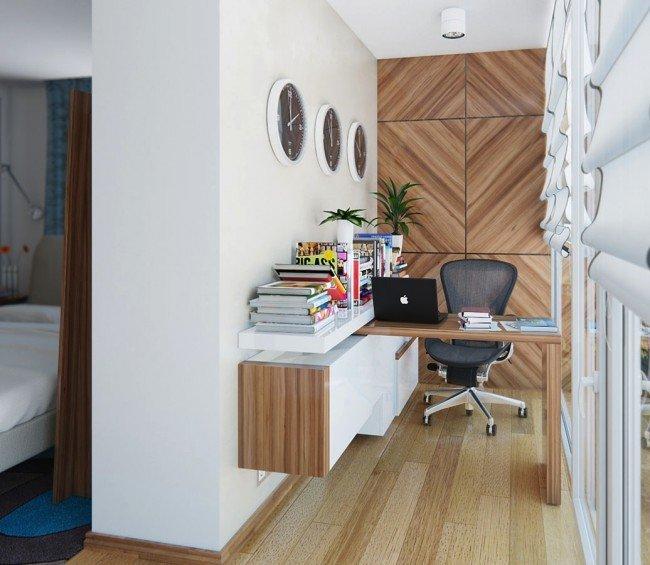 Маленький кабинет на балконе