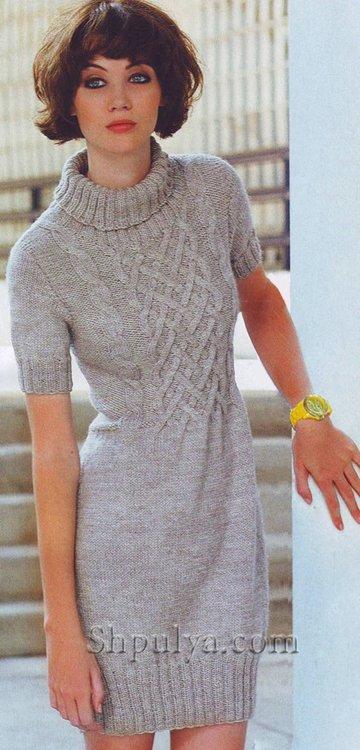 платья спицами описания схемы вязаное платье платье крючком