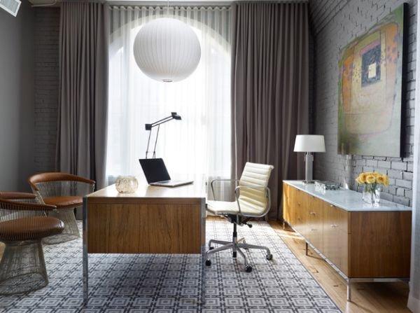 Мужской интерьер домашнего кабинета