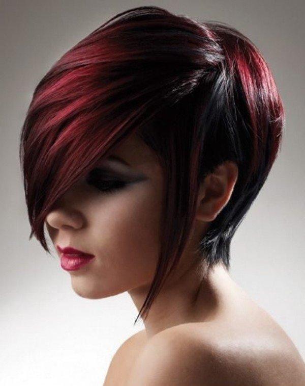 Окрашивание коротких волос в два цвета
