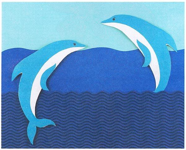 Открытки с дельфинами своими руками, коллегам прощанье поздравления