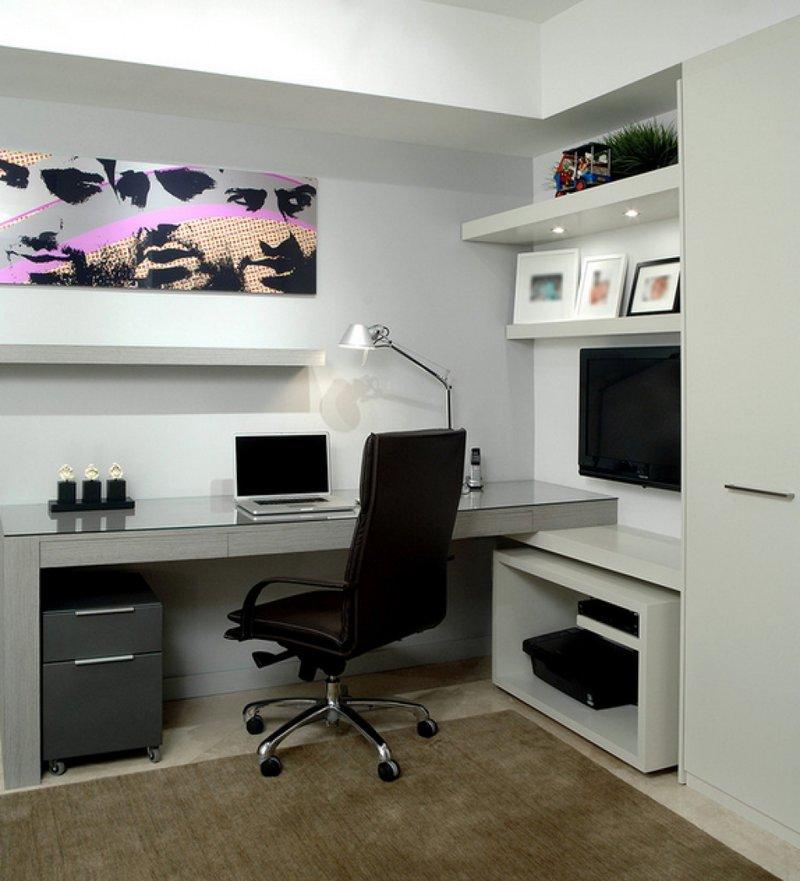Мужской домашний кабинет: практические советы по обустройству  Минималистичный домашний кабинет