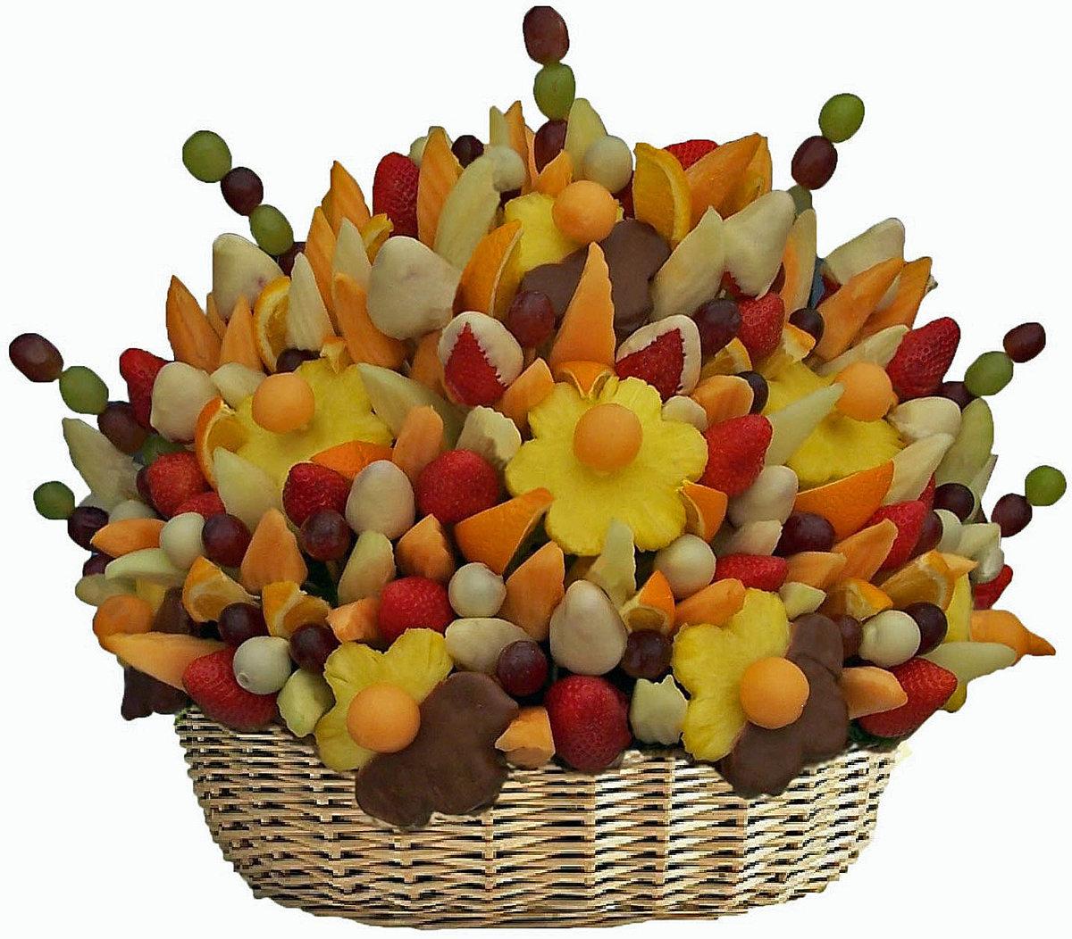 Поздравление букет из фруктов