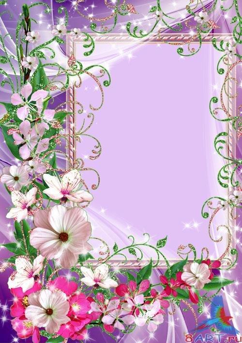 Открытки рамки с цветами, для срисовки