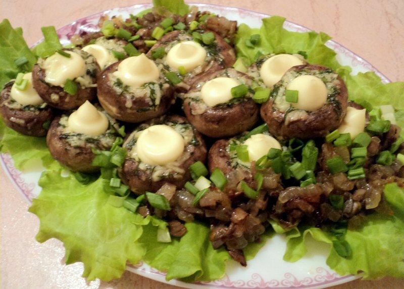 Закуски с грибами фото