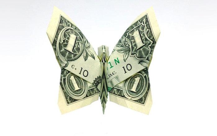 Как красиво вложить деньги в открытку, надписью