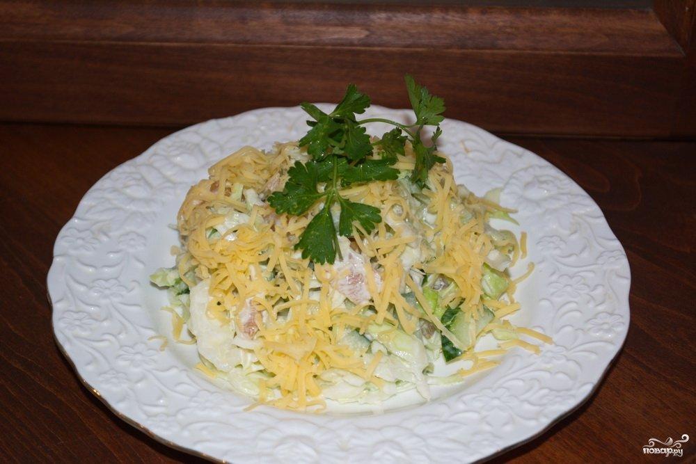 Салат копченая курица виноград сыр