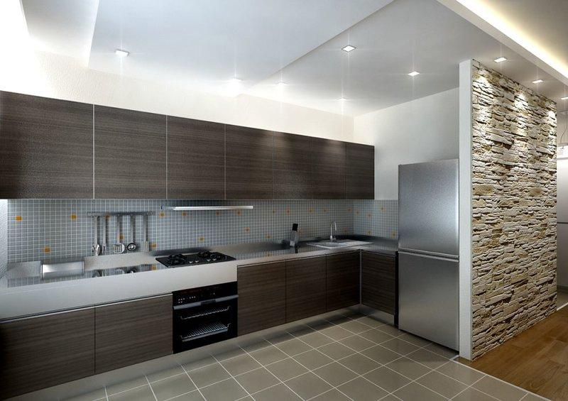 дизайн кухня обои фото