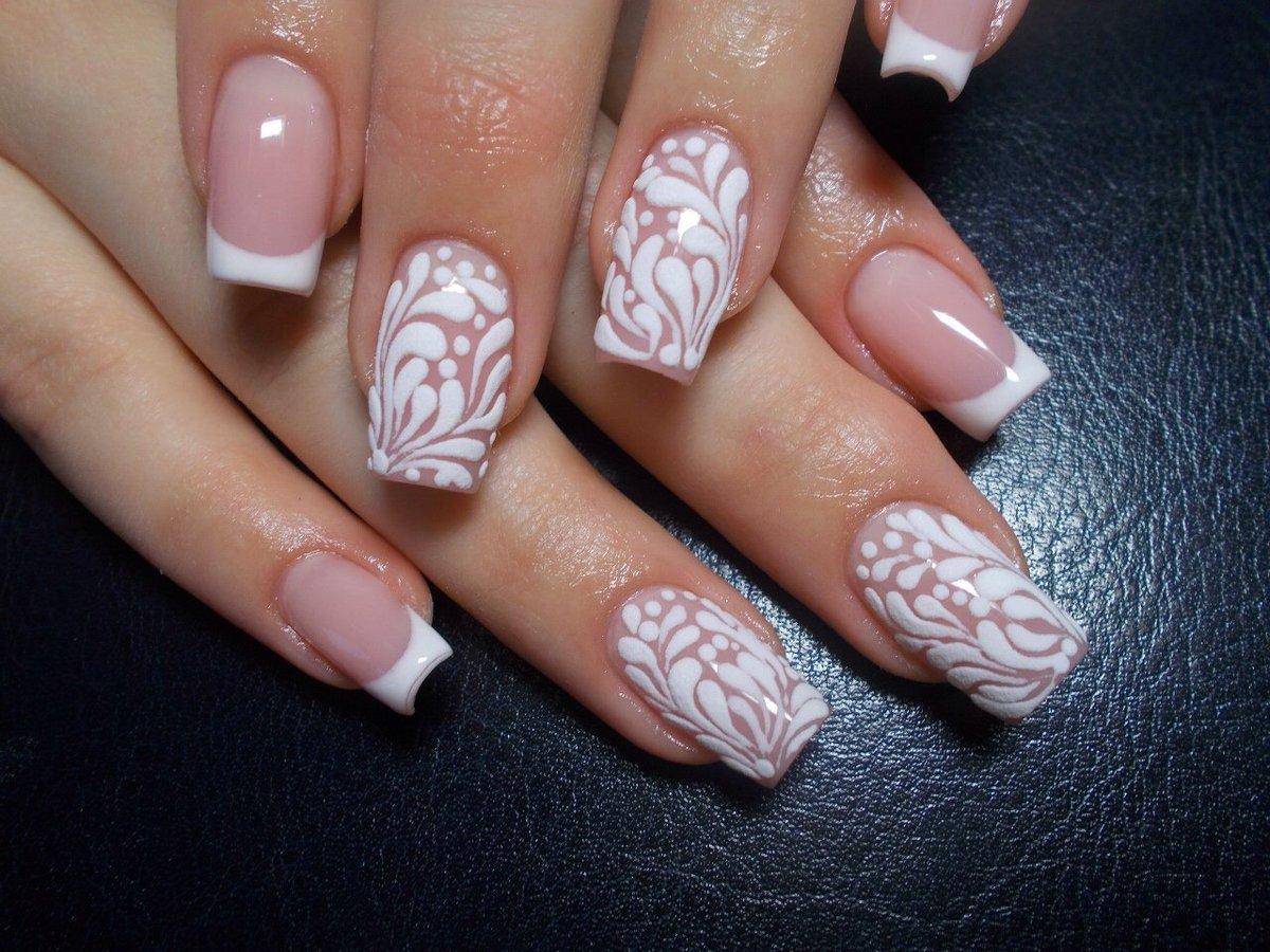 Картинки ногтей гель френч с узорами