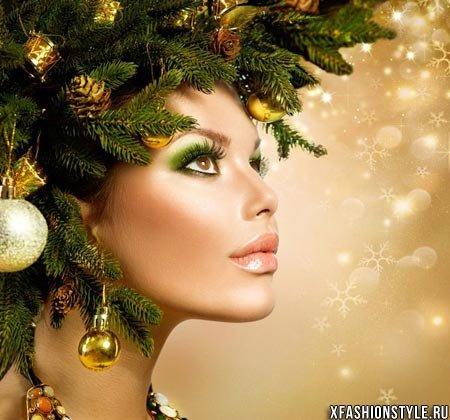 Новогодний макияж 2016. Более 80 вариантов! Фото