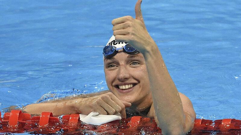 Катинка Хошсу. Плавание 400 м комплекс. Венгрия. Золото