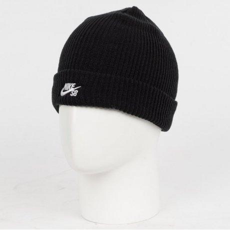newest 30335 ad43d ... Шапка Nike Sb Fisherman Beanie 628684-011 (black-white)