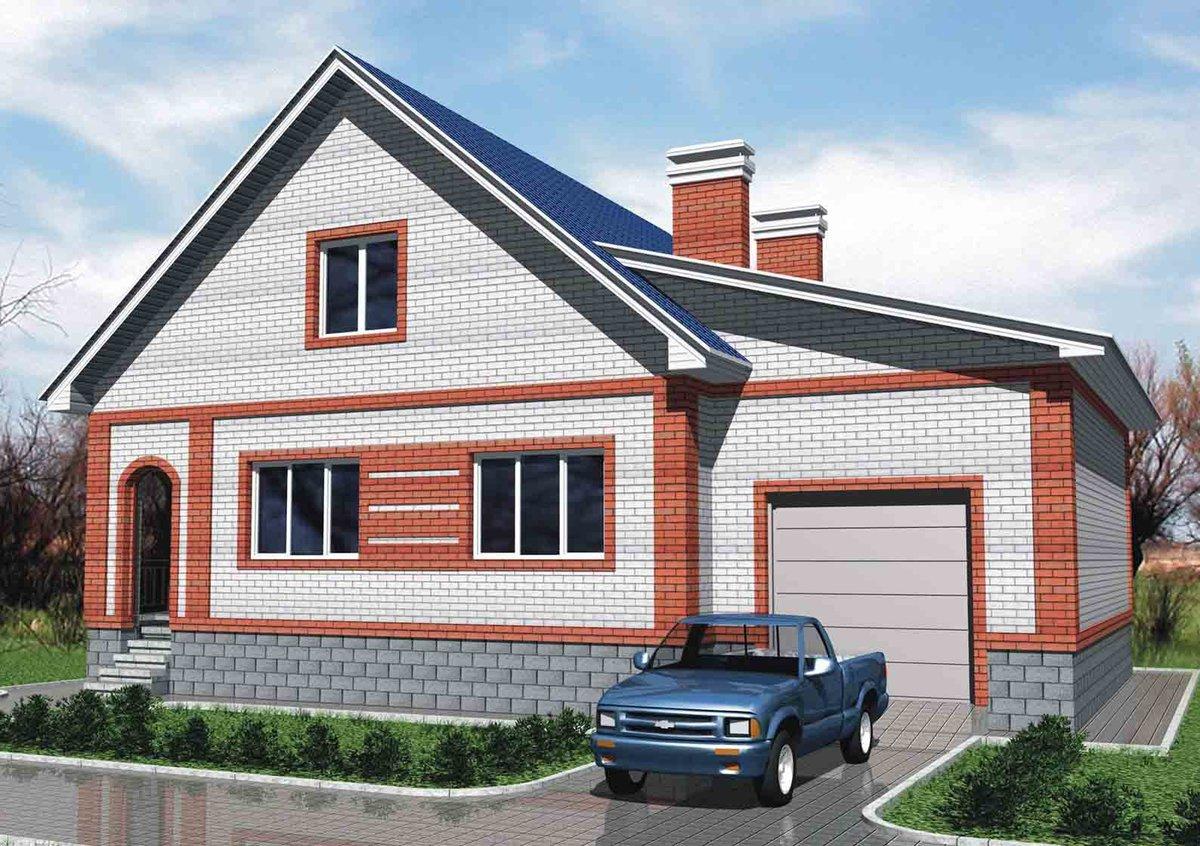 более одноэтажные кирпичные дома с гаражом фото держал тумбочке