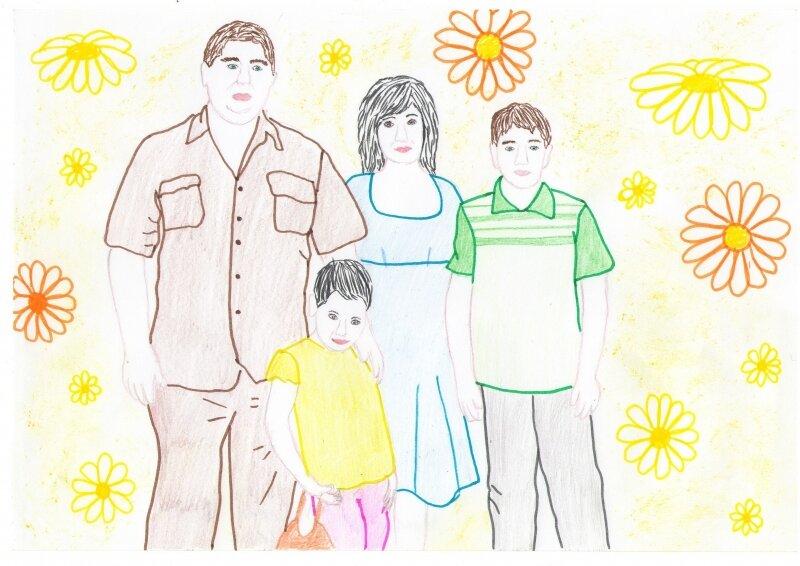 Рисунок своей семьи картинки митрофановского