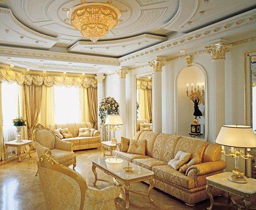 Итерьер гостиной в классическом стиле: дизайн классика в ...