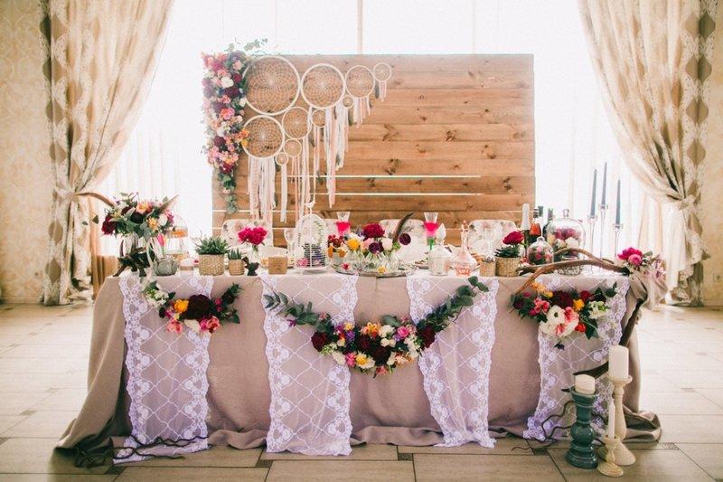 Камерная бохо-свадьба для нескольких приглашенных