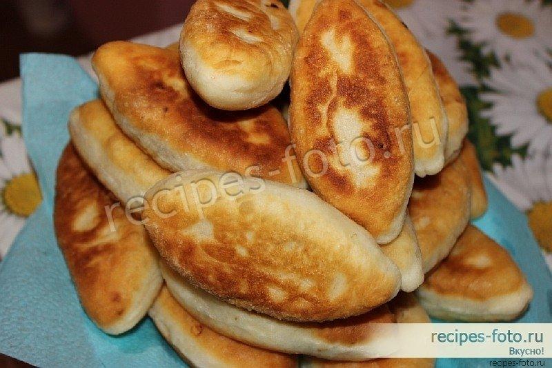 пирожки жареные с капустой без дрожжей