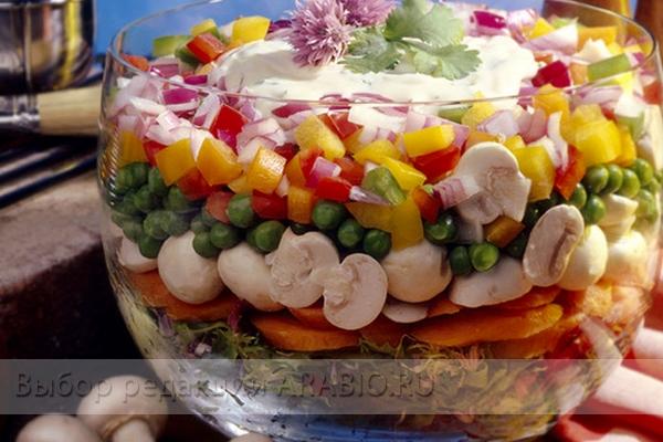 рецепты салаты на праздничный стол с фото