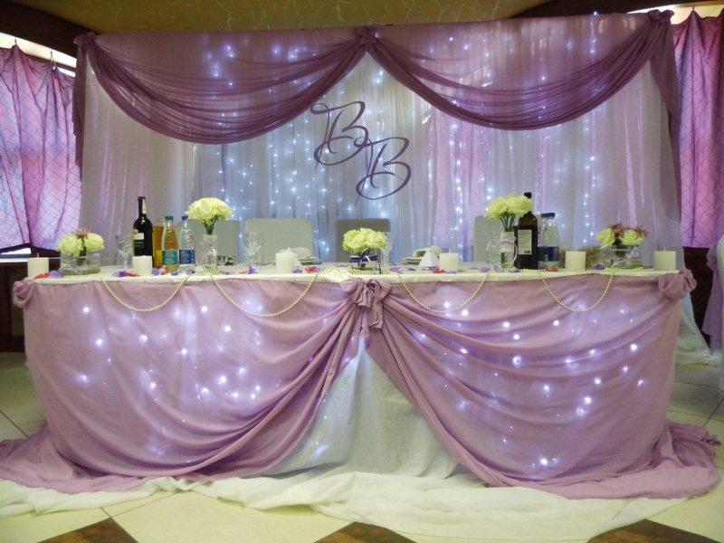 Украсить стол на свадьбу своими руками