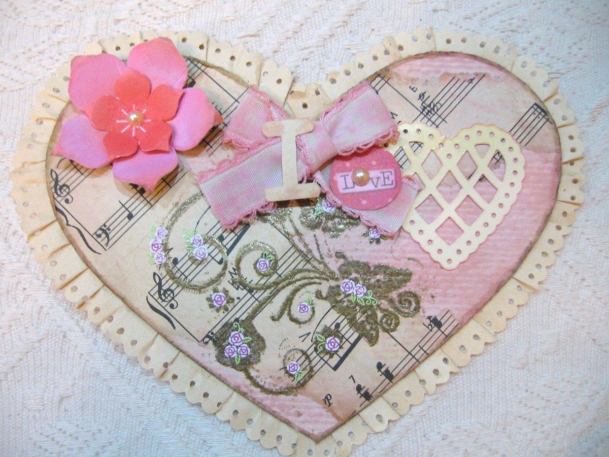 Скрапбукинг открытки с валентинками