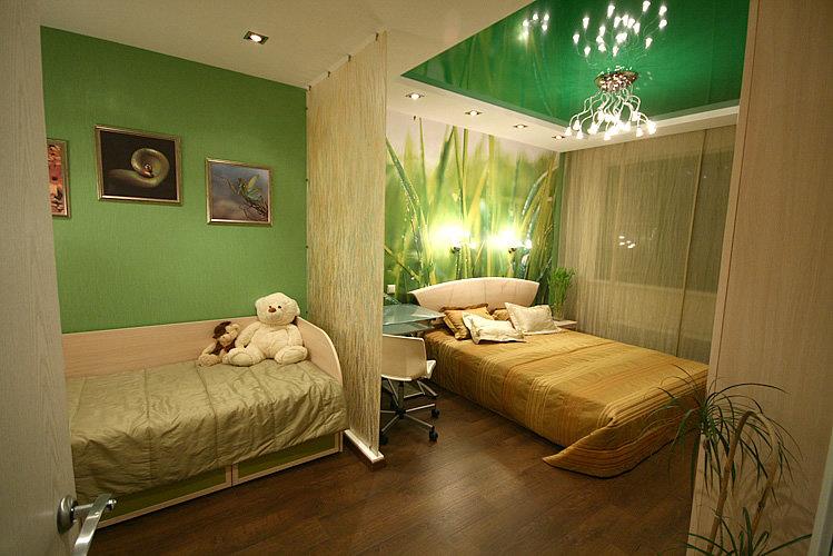 Планировка комнаты спальня зал