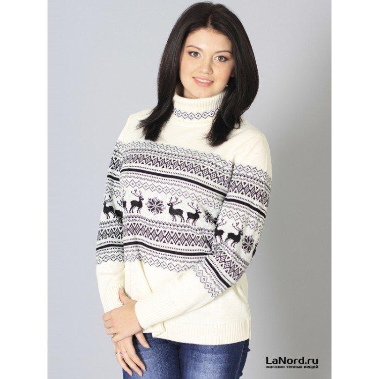 Как связать женский пуловер спицами? 80
