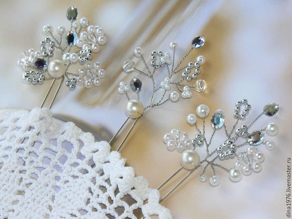 Шпильки для невесты своими руками фото 980
