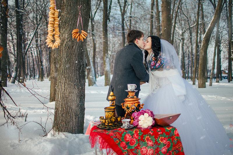 Свадебные фотосессии зимой фото
