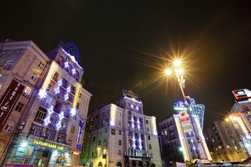Красивый новогодний Киев