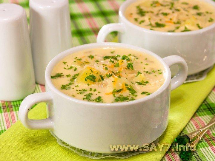 Первые блюда: Сырный суп