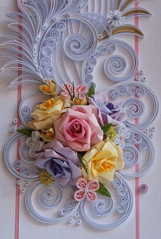 Оформление открытки цветами из бумаги своими руками, днем рождения