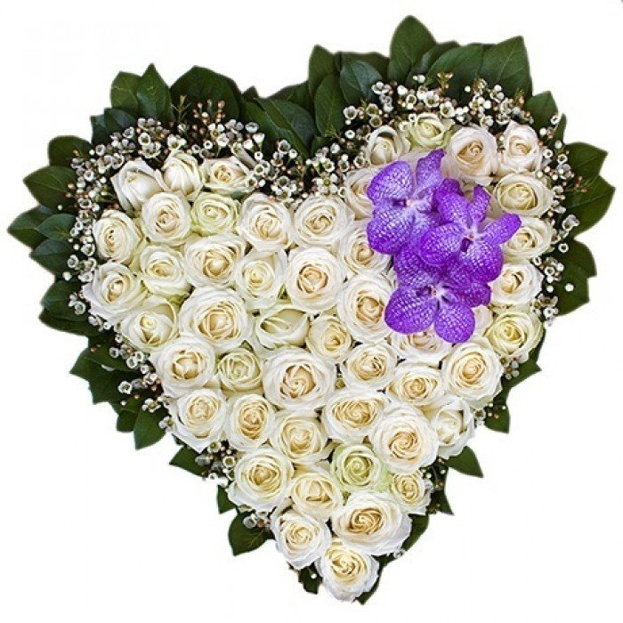 Моде, открытки сердечко из цветов