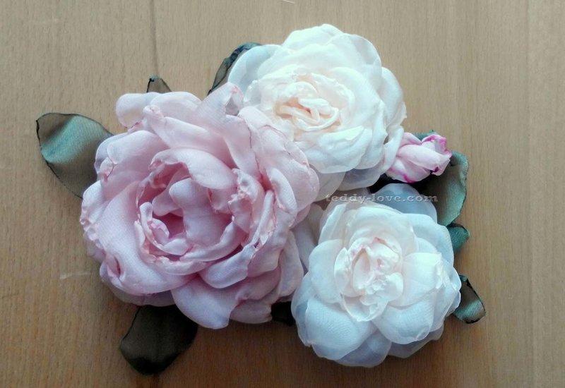 Цветы из ткани. розы своими руками