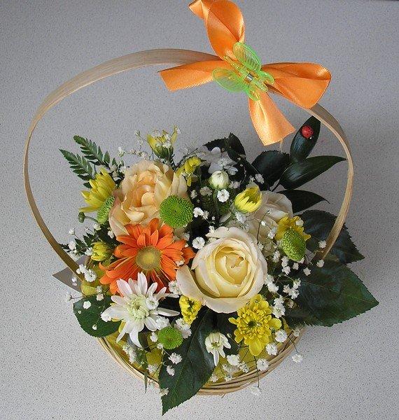 Цветы, букет своими руками из живых цветов