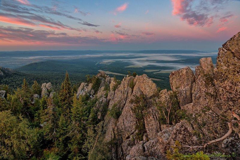 Гора Малиновая , Южный Урал , город Белорецк.
