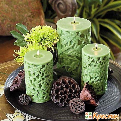 Красивые свечи своими руками