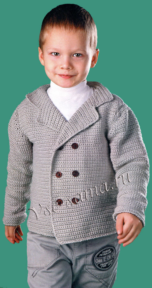вязаный пиджак для мальчика 6 лет своими руками рынок