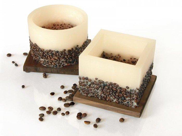 как сделать свечку с кофе дырочки рвуться