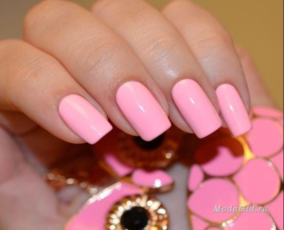 Маникюр розовый свадебный