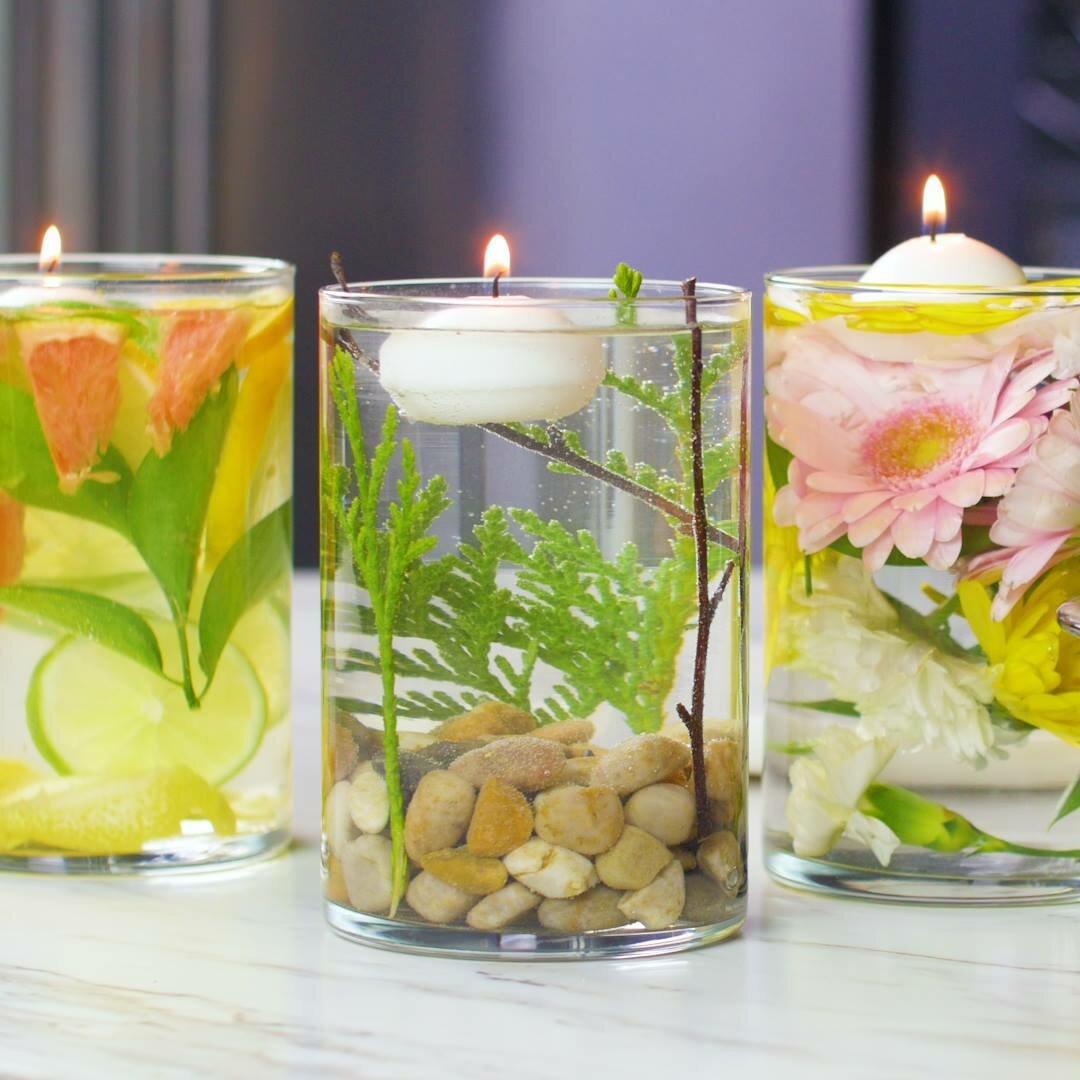 как сделать декоративную прозрачную свечу своими руками