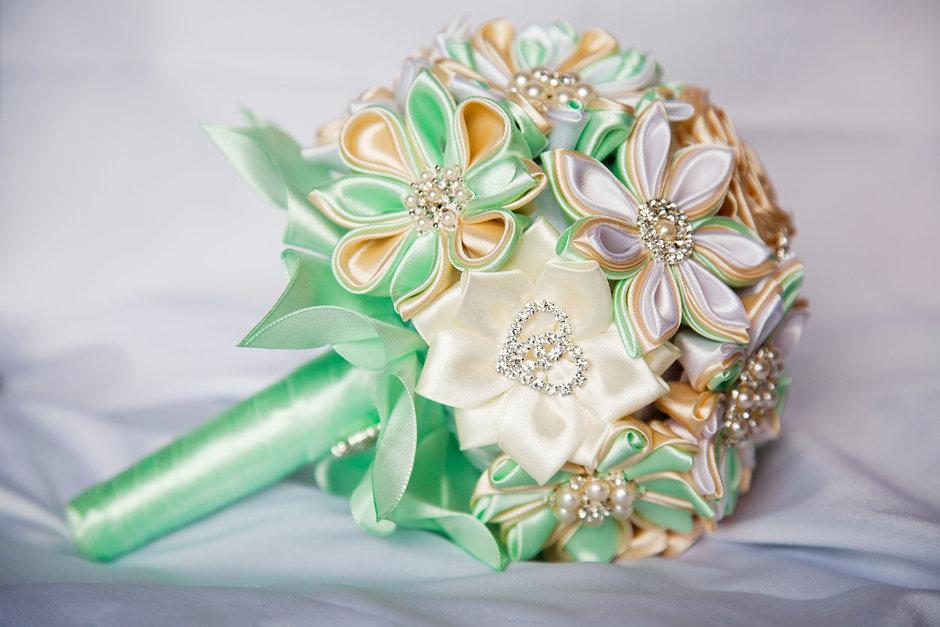 Букет роз, букет невесты из лент своими руками