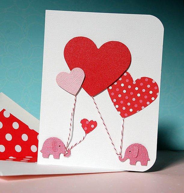 Дню, самодельные открытки на день рождения с сердечками