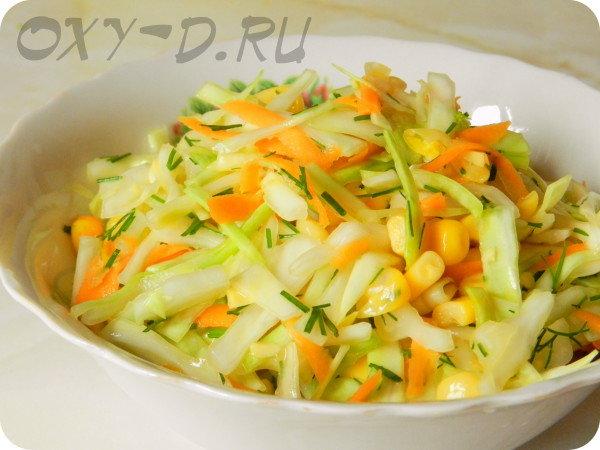 Вкусные салаты из кукурузы