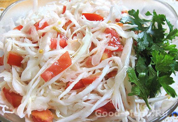 салат из свежей капусты летний
